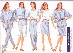 1980s Vintage Womens Sewing Pattern Jacket Top by Sutlerssundries, $5.99