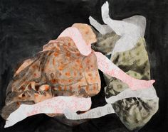 """Saatchi Art Artist: Audrey Stommes; Acrylic 2013 Painting """"Under The Blankets"""""""