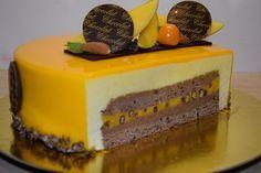 Торт два шоколада с манго