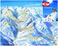 Official ski trail map of Saalbach and Hinterglemm area from the season. Ski Chalet, Ski Vacation, Vacation Spots, My Travel Map, Austria Map, Ski Holidays, Snow Skiing, Ski And Snowboard, Croatia