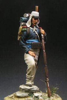 Fusilier Foreign Legion Mexico 1863. 54mm Model by Beneito Miniatures. Painter Unknown