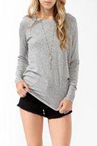 long grey cozy sweater? Yes please!