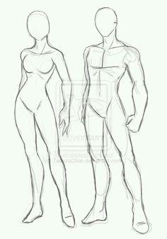 anatomi-model-karakalem-çizimleri-