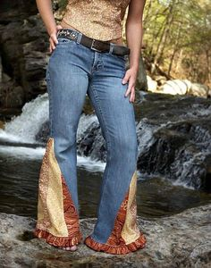 DIY Bell Bottom Jeans. This is how my mom made our regular jeans ...