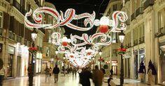Una de las calles iluminadas por Iluminaciones Ximénez, en una imagen de archivo. - EUROPA PRESS