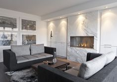 EcoSmart Fire 1200SS fireplace featured in Private Residence, Toronto, Canada