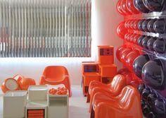 Bubble wall elements designed by Verner Panton for Lüber Basel 1970