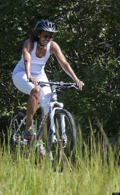 Our First Lady with her bicycle!