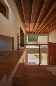 House in Japan designed by Kazuki Moroe to respect the shrine next door.