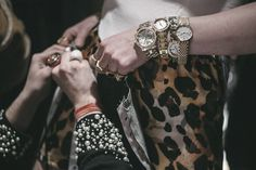 All the watches backstage at Ed Marler AW15 LFW. See more here: http://www.dazeddigital.com/fashion/article/23736/1/fashion-east-aw15