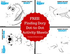 Finding Dory Dot-to-Dot Activity Sheets