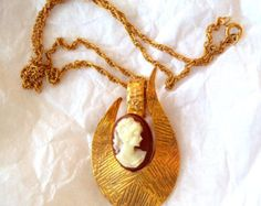 Vintage HMS Madeira Creations Cameo Necklace NOS - on Etsy at RetroRosiesVintage