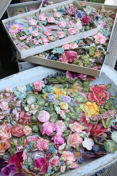 I'd love to find these in an attic somewhere #vintage #flowers