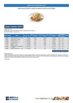 Receptové kalkulačné listy | Bidfood