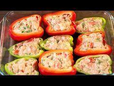 Pimientos rellenos al horno − ¡Un plato increíblemente sabroso! Baby Food Recipes, Cooking Recipes, Healthy Recipes, Good Food, Yummy Food, Baked Vegetables, Food Tasting, Chicken Salad Recipes, Food Videos