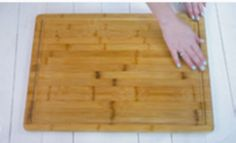 How to Clean A Cutting Board: Clean your cutting board with just two household items!