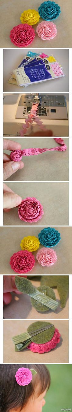 Hair Flower DIY