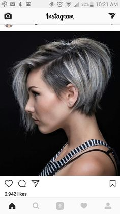 100 Mind-Blowing Short Hairstyles for Fine Hair – hair bangs long Short Hairstyles For Thick Hair, Short Asymmetrical Hairstyles, Hairstyle Short, Edgy Short Hair Styles, Asymmetrical Pixie Cuts, Grey Hair Styles For Women, Short Gair Styles, One Side Shaved Hairstyles, Short Stacked Haircuts