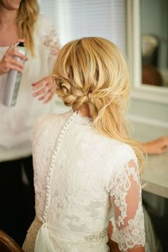 Like how this style is off to the side. Would be nice since I want my hair down, but want it to be restrained a little