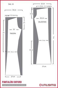 2fd01e70ce patrones para pantalones oxford - Buscar con Google