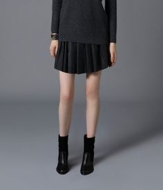 Flore Leather Skirt