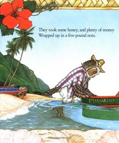 Illustration from 'The Owl and the Pussycat' by Edward Lear, illustrated by Jan Brett (1999)