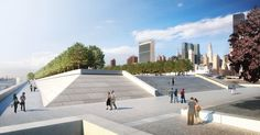 East Promenade and Monumental Stair, rendering by Chris Shelley