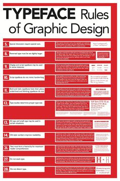 The Rules of Graphic Design poster series was designed to present a daunting amount of information in the most accessible and approachable manner possible. Swiss International style& influence is apparent in the grid structure, color scheme, sans serif t& Graphisches Design, Graphic Design Tips, Graphic Design Posters, Graphic Design Typography, Graphic Design Inspiration, Game Design, Cover Design, Logo Design Tips, Graphic Designers