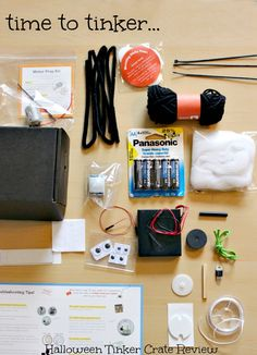 Just in time for Halloween Tinker Crate Review : Motion Sensor Spider!