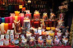 Kerzen auf dem Weihnachtsmarkt #Muenchen
