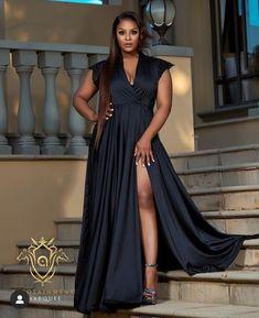 African Weddings, Glamour, Gowns, How To Wear, Black, Dresses, Fashion, Curvy Fashion, Moda