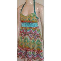 Jennifer Tylor dámské šaty žluto modré 38