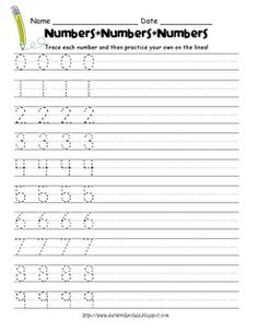 Heres a page for practicing numeral writing.