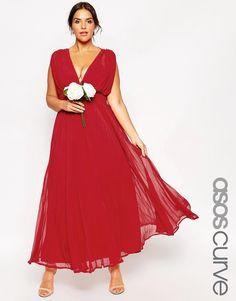ASOS+CURVE+WEDDING+Maxi+Dress+with+Deep+Plunge