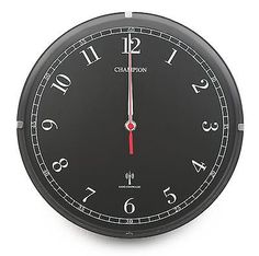 #Champion bold 11 inch diameter msf signal black #radio #controlled wall clock rc,  View more on the LINK: 	http://www.zeppy.io/product/gb/2/281976334037/