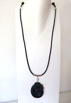 Ketten lang - Lange Kette mit chinesischem Jadeanhänger - ein Designerstück von krisztina-design bei DaWanda