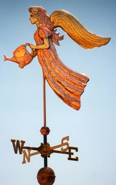 Angel Weathervane - Watering Can - West Coast Weathervanes