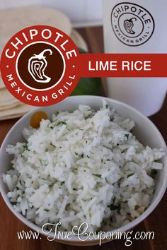 If Mexican is one of your favorites types of food to eat, you'll love the Chipotle Lime Rice Recipe! A fave blood food! Chipotle Lime Cilantro Rice, Chipotle Copycat Recipes, Chipotle White Rice Recipe, Copykat Recipes, Air Fryer Recipes, Slow Cooker Recipes, Cooking Recipes, Fondue Recipes, Smoker Recipes