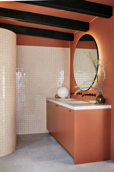Zebra Print Bathroom Decor – Home Colour Ideas Bathroom Color Schemes, Bathroom Tile Designs, Bathroom Colors, Modern Bathroom, Master Bathroom, Bathroom Ideas, Colorful Bathroom, Paint Bathroom, Beige Bathroom