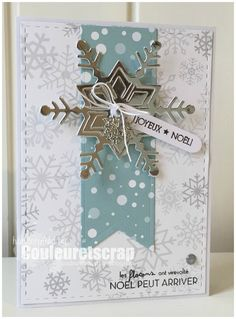 un combo - Couleuretscrap @ Nicole - Christmas Pins 2019 Christmas Cards 2017, Christmas Greeting Cards, Holiday Cards, Stampin Up Weihnachten, Karten Diy, Snowflake Cards, Winter Cards, Card Sketches, Card Tags