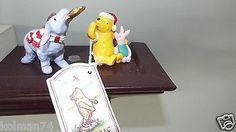 Classic Pooh Figurines Christmas Set of 2 Pooh Piglet Eeyore   eBay