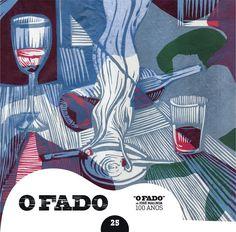 """2012 O Fado de José Malhoa 100 Anos 25 [Tugaland/A Bela e o Monstro] ilustração: Maria João Worm """"Fado"""" #albumcover #illustration #fado #music"""