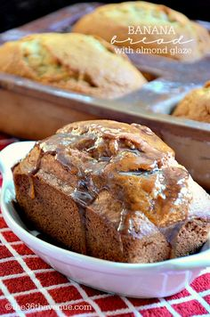 Banana Bread Recipe with Almond Glaze the36thavenue.com
