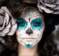 Beautiful Day of the Dead make-up.