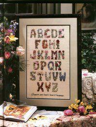 Solo Patrones Punto Cruz 1/6 Flower Alphabet