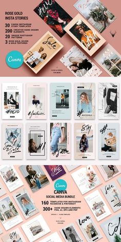 CANVA Social Media Bundle + FREE Updates. Included in this pack are 40 Canva instagram posts, 40 Canva Pinterest posts, 10 Canva Instagram posts and 10 Canva Facebook posts. This bundle includes free updates and all Canva items on our shop will be availab Social Media Template, Social Media Design, Social Media Graphics, Instagram Banner, New Instagram, Instagram Posts, Instagram Design, Instagram Photoshop, Instagram Post Template
