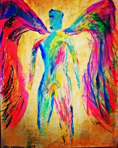Ivan Guaderrama, contemporary angels art , reproduction tryout by şerife
