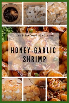 🍒🍒 Today I was tired and didn't feel like cooking, but I was hungry! I decided I wouldn't let my mood ruin my healthy way of life and then it hit me: Honey-Garlic Shrimp. A meal so tasty and fast to make. Hope you enjoy! Shrimp Recipes, Fish Recipes, Gourmet Recipes, Cooking Recipes, Healthy Recipes, Quick Recipes, Curry Shrimp, Garlic Shrimp, Sauteed Shrimp
