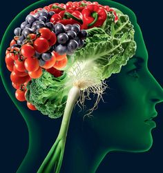 Eat a healthy diet with foods that enrich your brain and boost your brainpower. You'll feel better, have a better memory and be able to think more clearly. Good Brain Food, Healthy Brain, Brain Health, Healthy Foods To Eat, Healthy Life, Healthy Eating, Healthy Recipes, Mental Health, Comida India