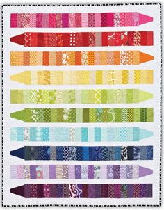 Color Me quilt by Emily Herrick. It makes a great scrap quilt.